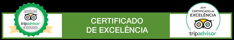 Certificado de Excelência 2019 do TripAdvisor